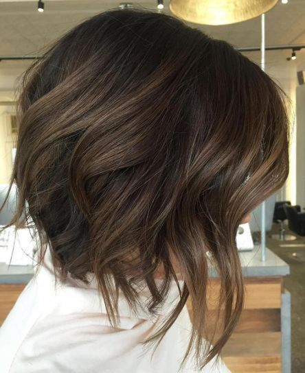 Brown Bob With Layered Ends