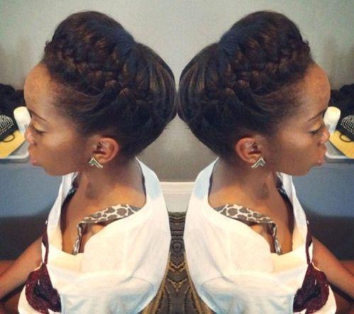 crown braid updo for black women