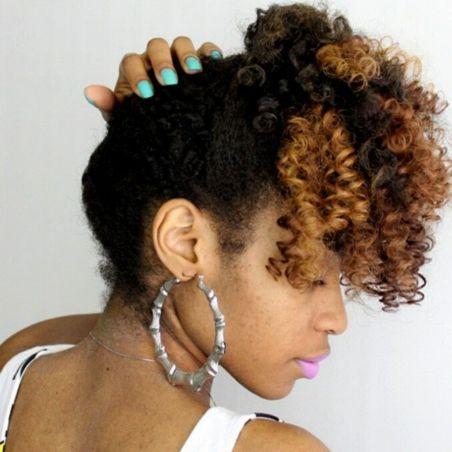 simple updo for medium black hair