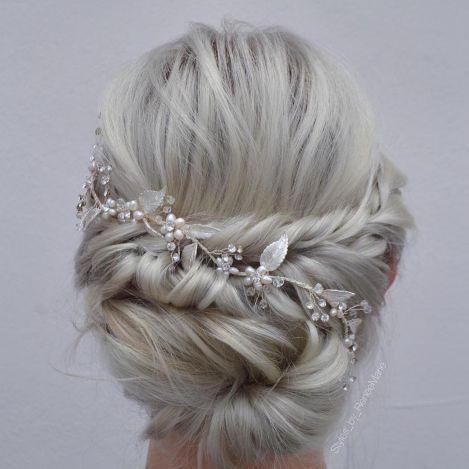 Blonde Wedding Updo