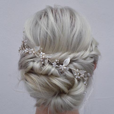 Blonde Wedding Updo