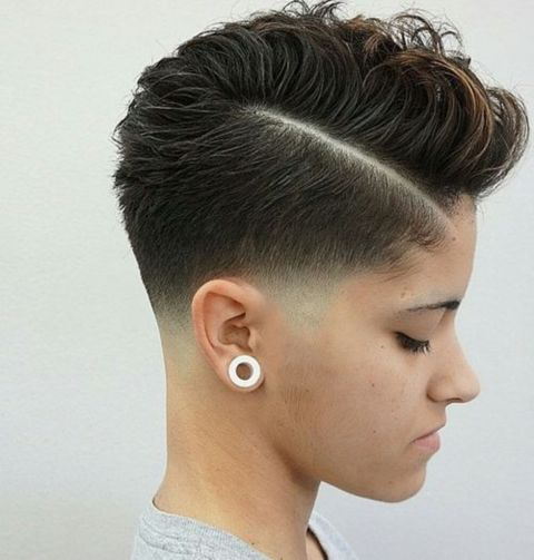 short curly fauxhawk hairstyle