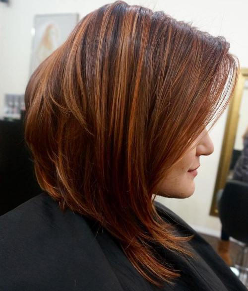 Reddish Brown Angled Bob