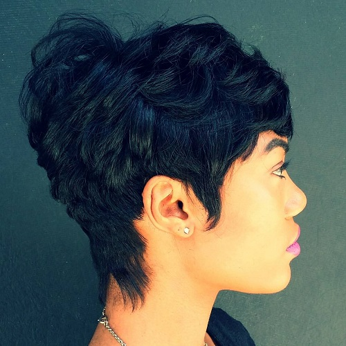 60 great short hairstyles for black women disheveled pixie for thick hair urmus Choice Image