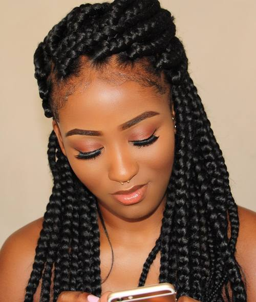 Awe Inspiring 50 Exquisite Box Braids Hairstyles To Do Yourself Hairstyle Inspiration Daily Dogsangcom