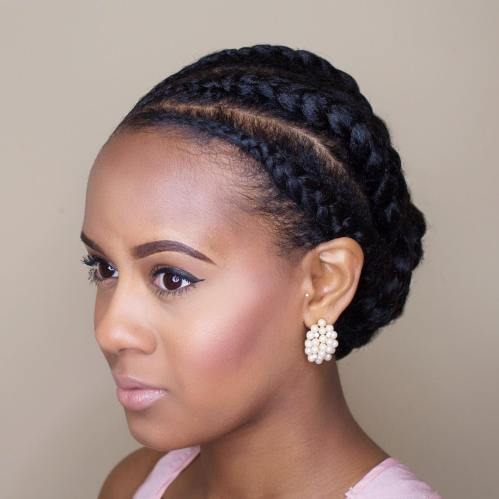 Side-Parted Formal Braided Updo