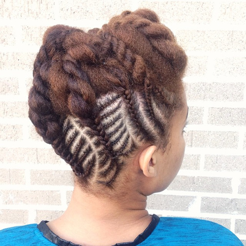 braided hairstyle with extensions