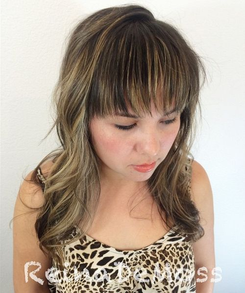 Terrific 40 Universal Medium Length Haircuts With Bangs Short Hairstyles Gunalazisus
