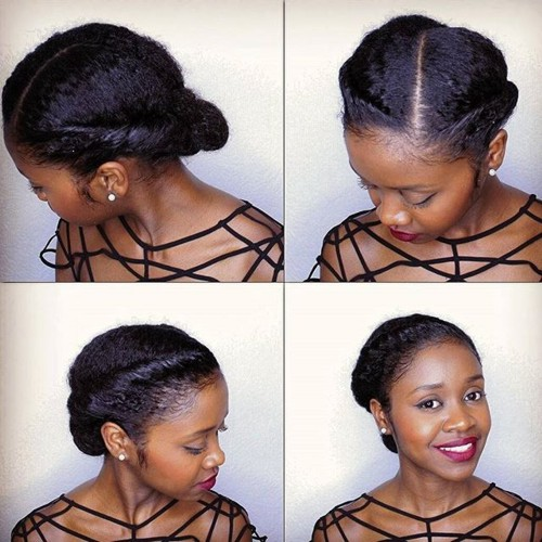 Easy Hairstyles For Natural Hair 45 easy and showy protective hairstyles for natural hair Simple Elegant Updo For Natural Hair