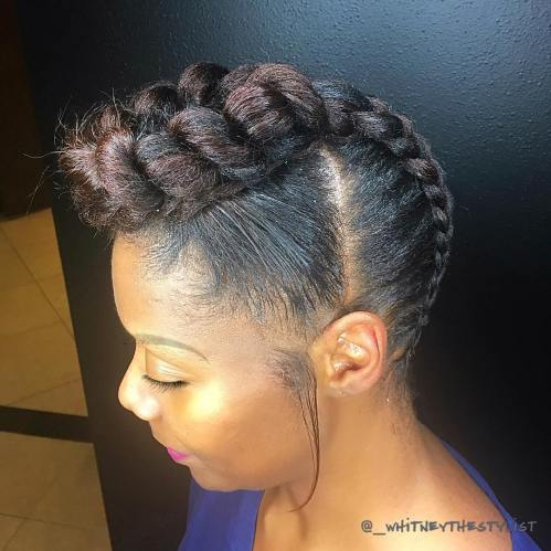 Mohawk Braid Updo