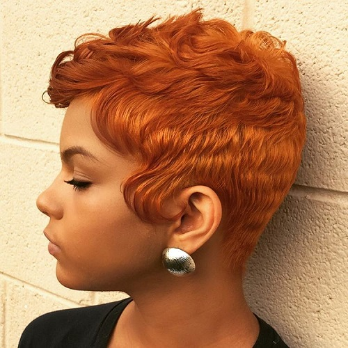 Red Pixie For Black Women