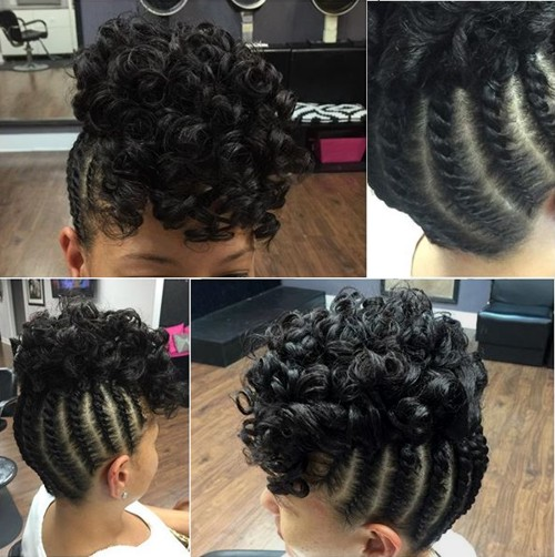 Updos With Braids And Curls: 45 Easy And Showy Protective Hairstyles For Natural Hair