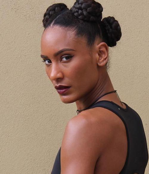braided buns updo for black women