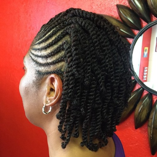 Cornrows Into Individual Twists