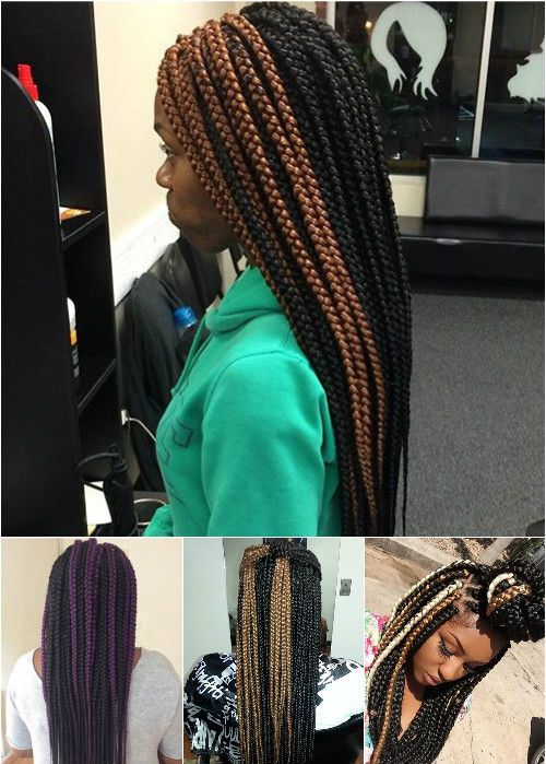 box braids with highlights