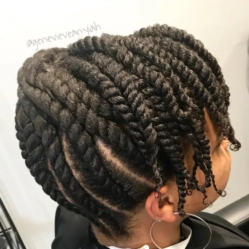 Protected Twisted Natural Updo
