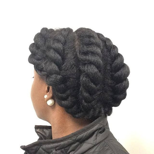 braided hairstyle with twists