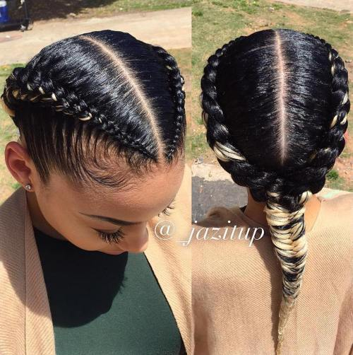 Strange 70 Best Black Braided Hairstyles That Turn Heads In 2017 Hairstyle Inspiration Daily Dogsangcom