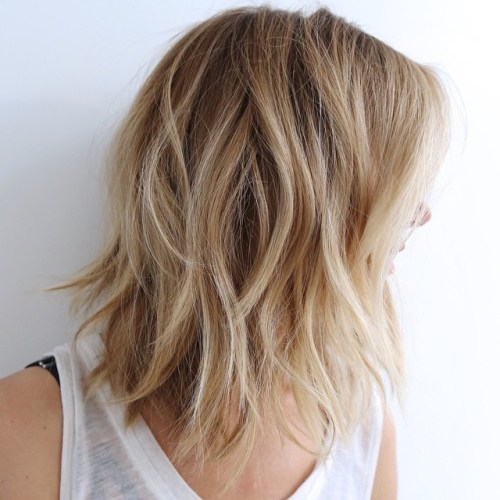 70 brightest medium length layered haircuts and hairstyles medium blonde shag urmus Choice Image