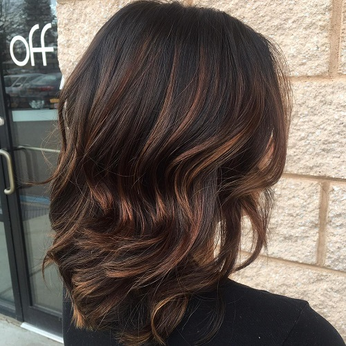 Medium Brunette Hair With Chocolate Highlights