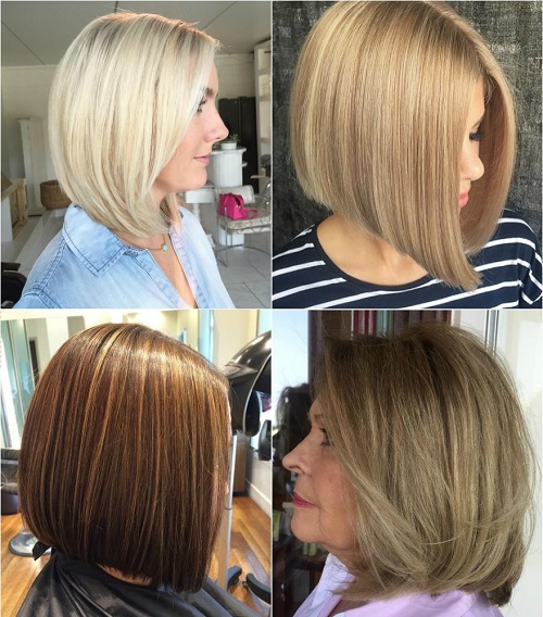 medium length bob haircut for thick hair