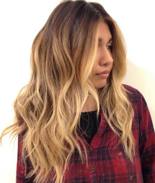 Layered Caramel Balayage Hair