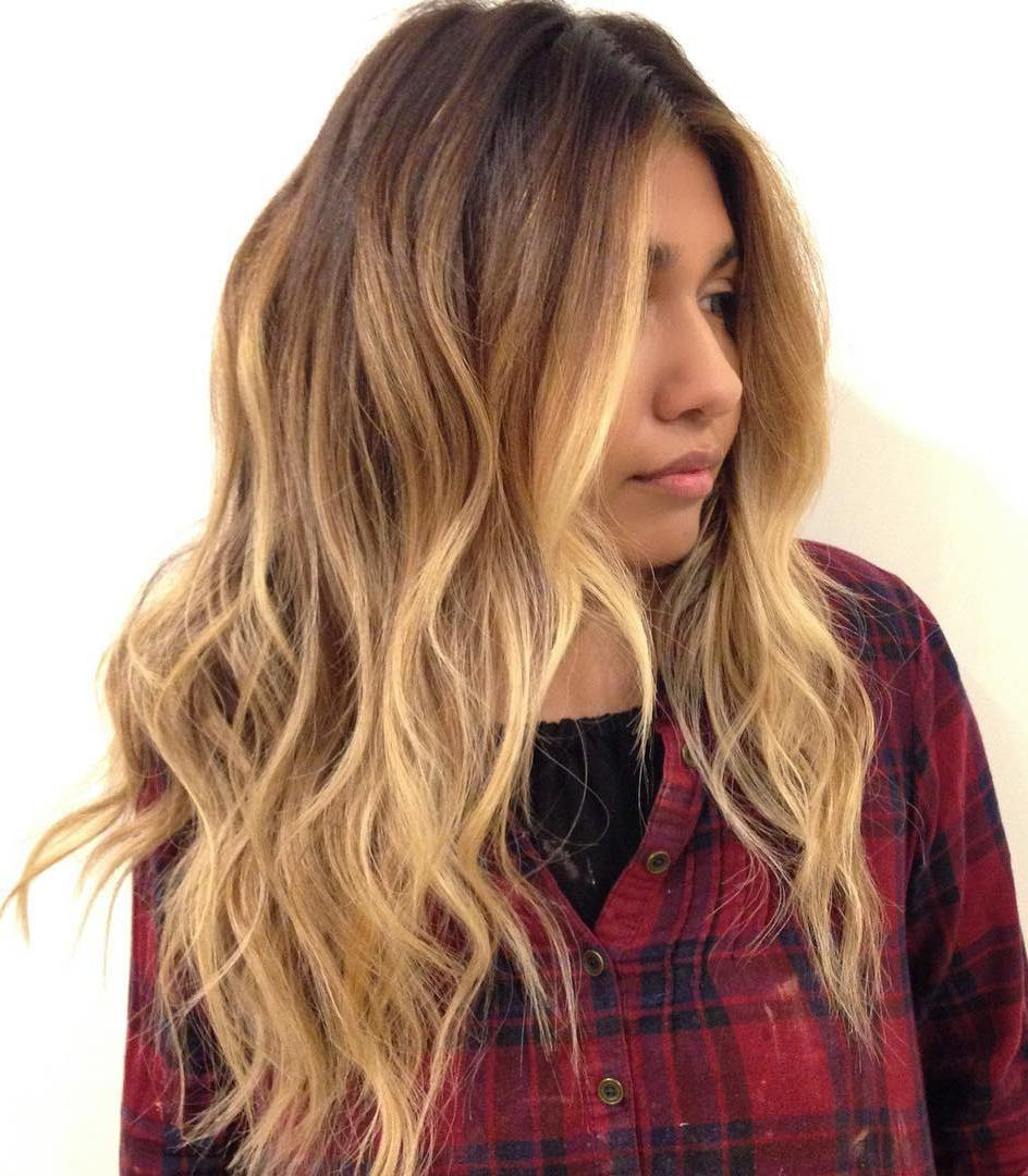 High Quality Layered Caramel Balayage Hair