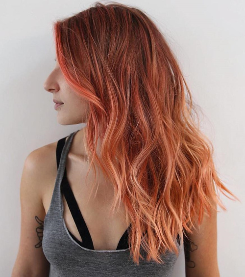 long red messy wavy hairstyle