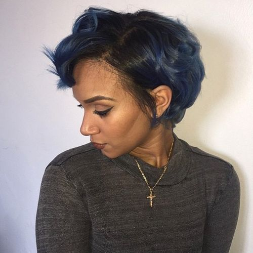 curled short bob for African American women