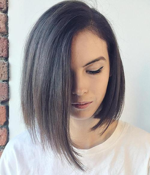 Top 40 catchy asymmetrical haircuts and hairstyles asymmetrical bob for straight hair winobraniefo Image collections