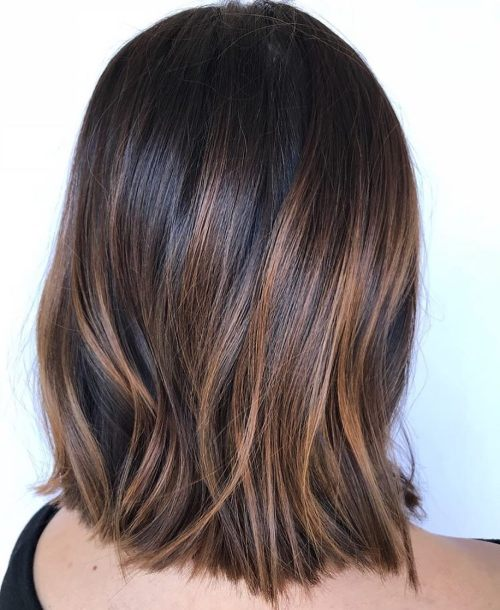 Caramel Highlights On Dark Hair
