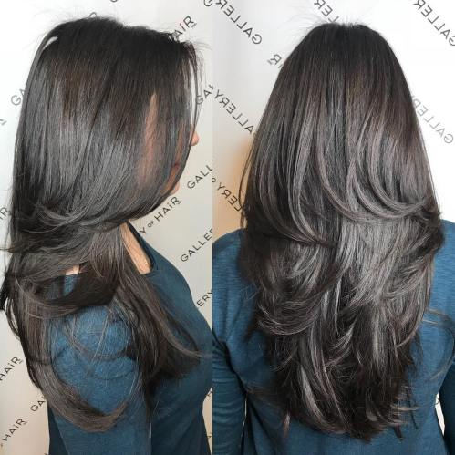 haircuts for long thick hair with layers and side bangs 80 layered hairstyles and cuts for hair in 2019 4569 | 11 haircut with layers for thick long hair