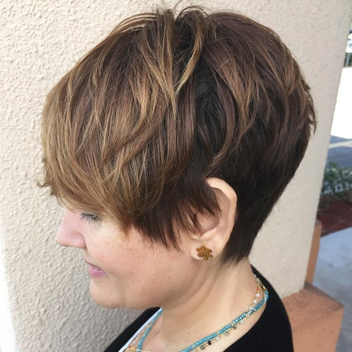 100 mind blowing short hairstyles for fine hair pixie haircut for mature women urmus Gallery