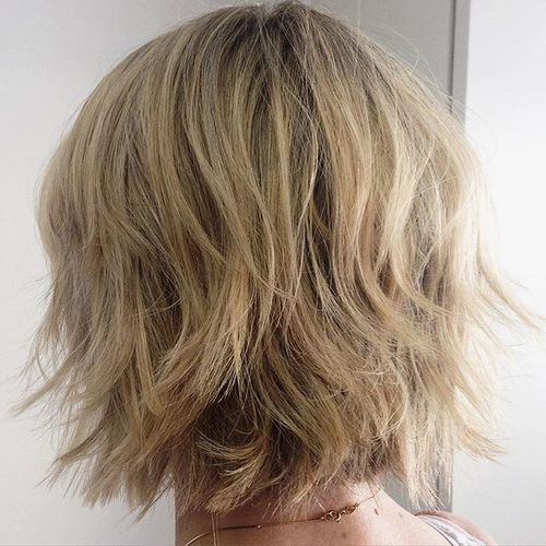 shaggy layered bob