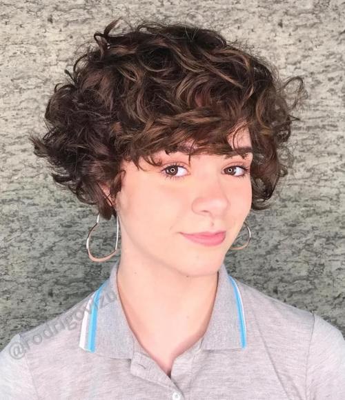 Short Pixie Bob For Curly Hair