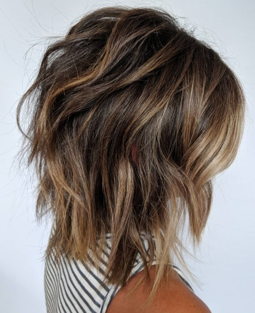 Sliced Shag With Bronde Highlights
