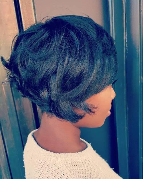 African American Choppy Bob Hairstyle