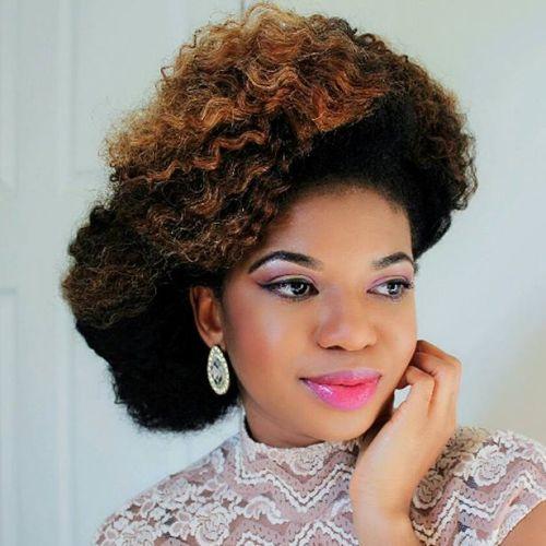 Asymmetrical Updo For Natural Hair