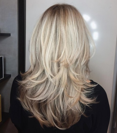 Blonde Piece-Y Haircut For Medium-To-Long Hair
