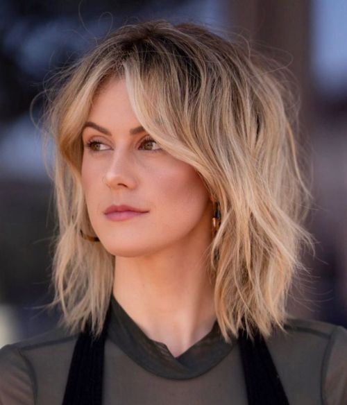 Bronde Long Bob Shag Haircut
