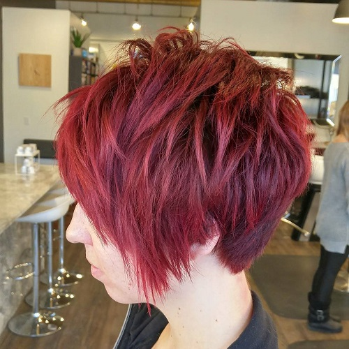 100 mind blowing short hairstyles for fine hair edgy short layered hairstyle for fine hair urmus Gallery