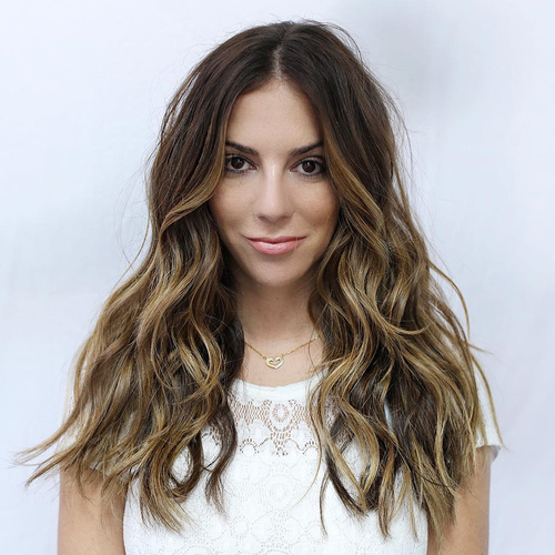80 cute layered hairstyles and cuts for long hair in 2017 long centre parted layered hairstyle urmus Choice Image