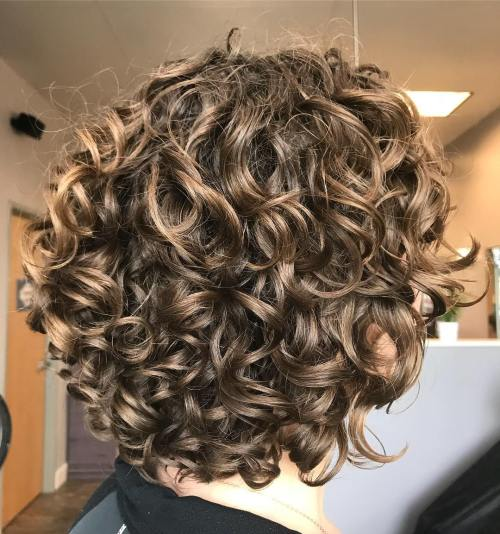 Layered Curly Hairstyles For Short Hair - Drawing Apem