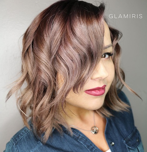Charming Wavy Bob Hairstyle For Plus Size Women