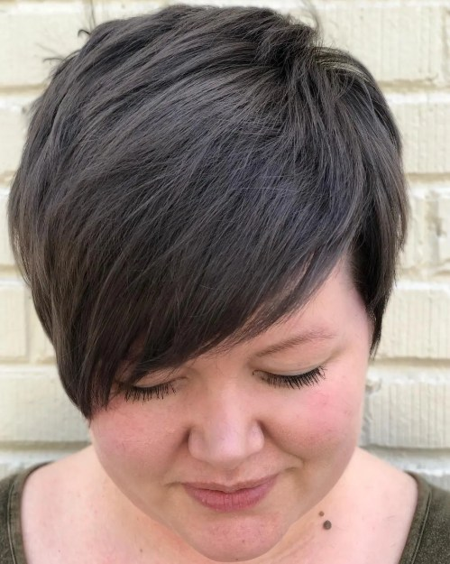 Layered Pixie For Chubby Faces