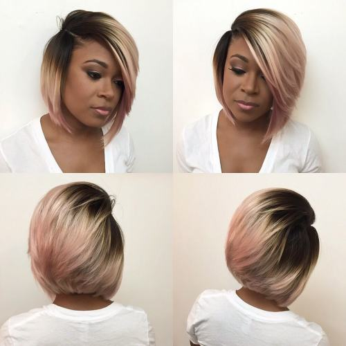 Medium-Length Inverted Bob For Black Women