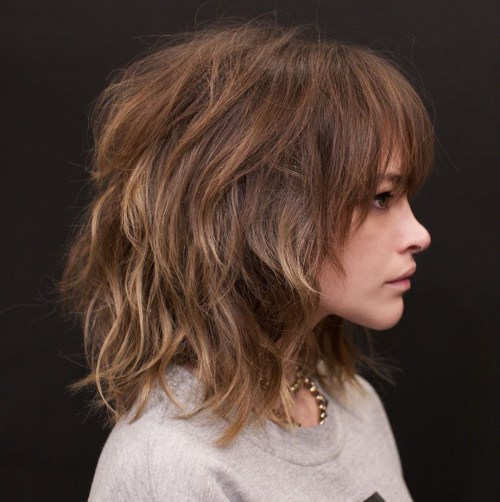 Medium Shag Haircut With Highlights
