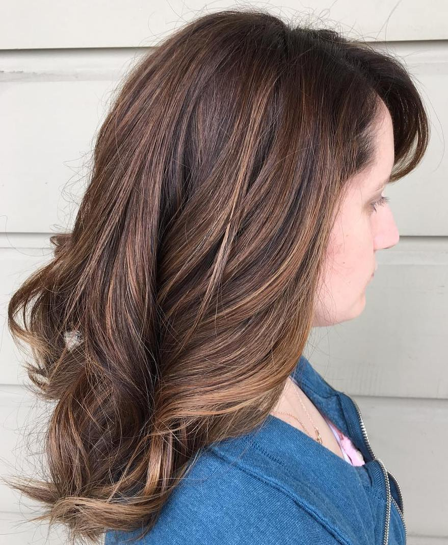 Subtle Balayage For Brown Hair