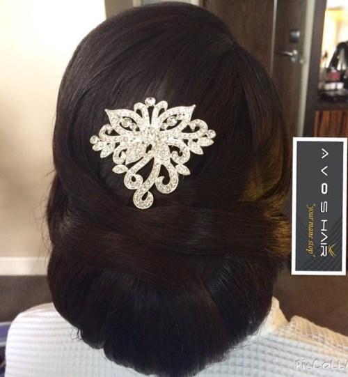 Bridal Chignon For Thick Black Hair