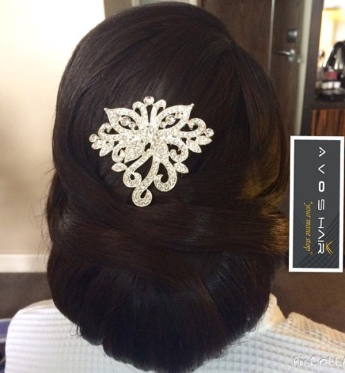 Bridal Chignon For Thick Black Hair